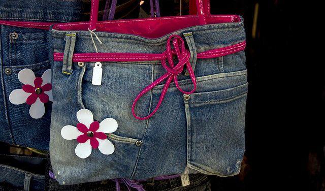 Bolso reciclado de jeans o vaqueros