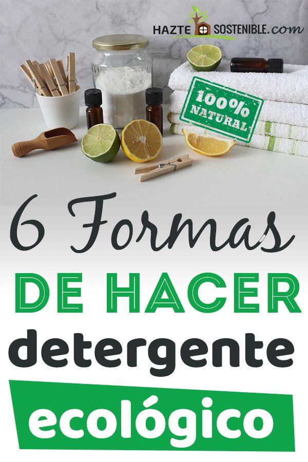 Formas de hacer detergente ecologico casero