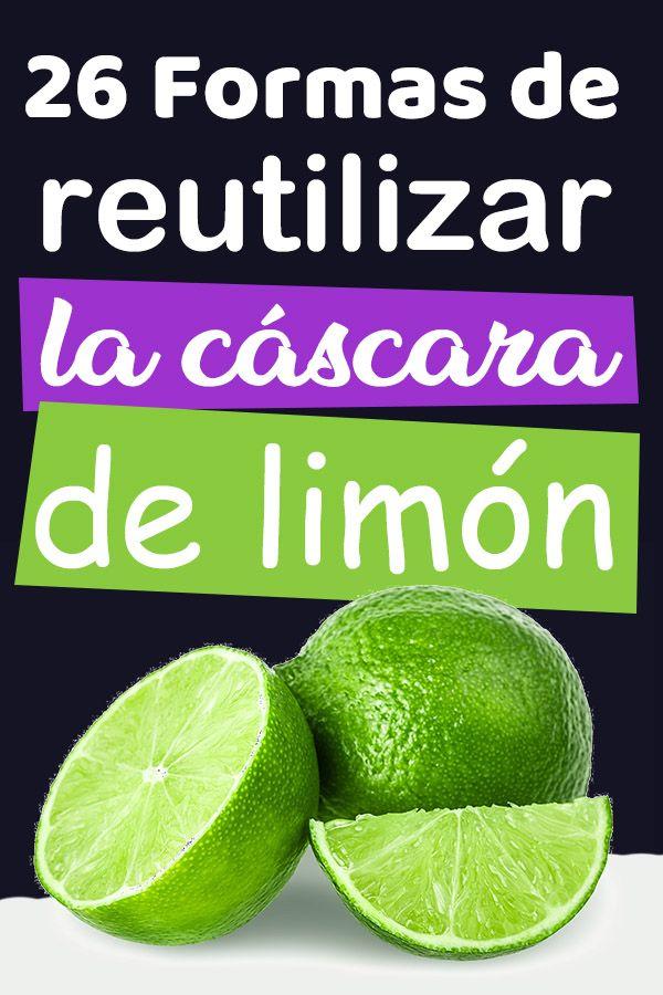 Reciclar la cascara de limón