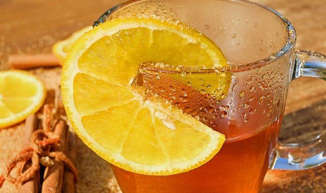 te con cascaras de naranja