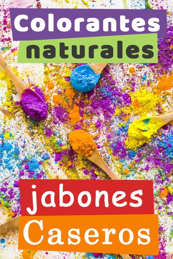 Colorantes naturales para jabones caseros