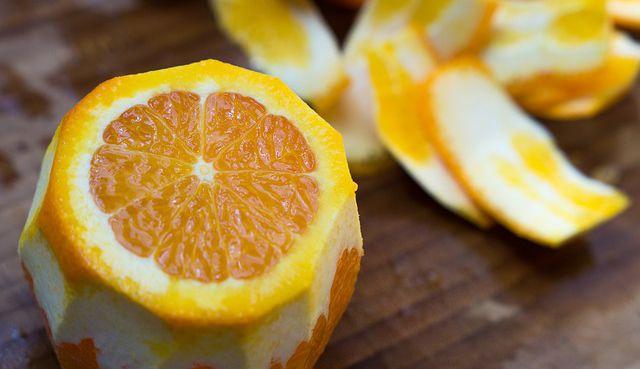 Cáscaras de cítricos naranja