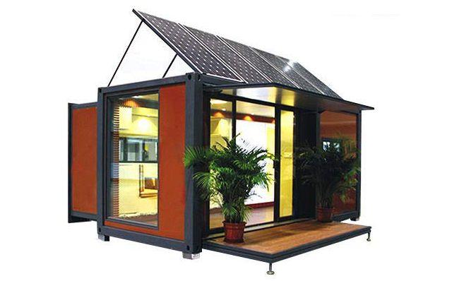 mini casa contenedor expandible con energia solar