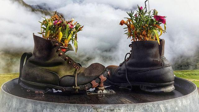 reciclaje de zapatos viejos