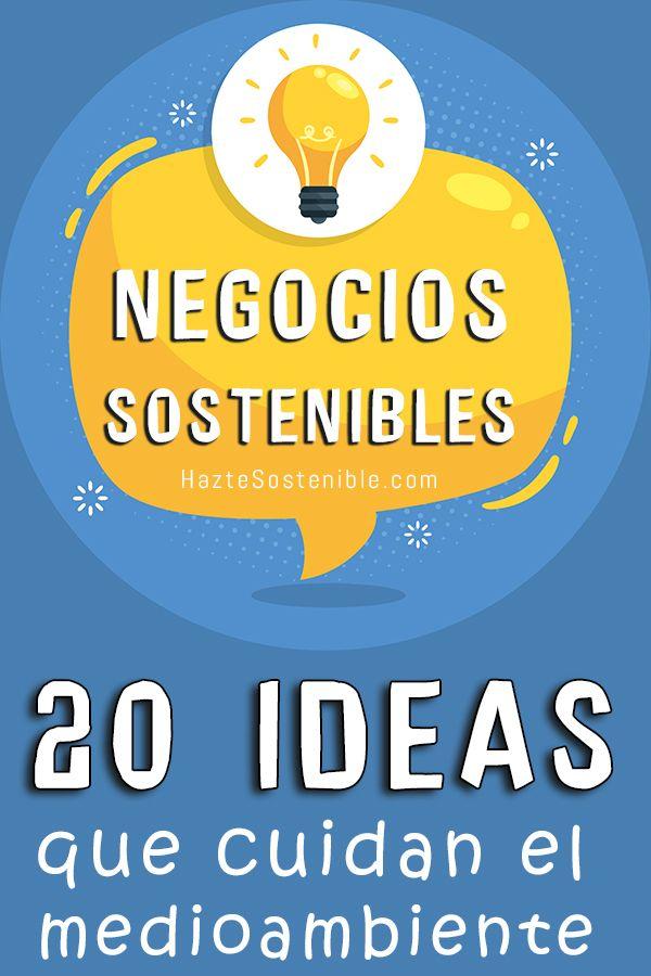 20 ideas de negocios sosenibles