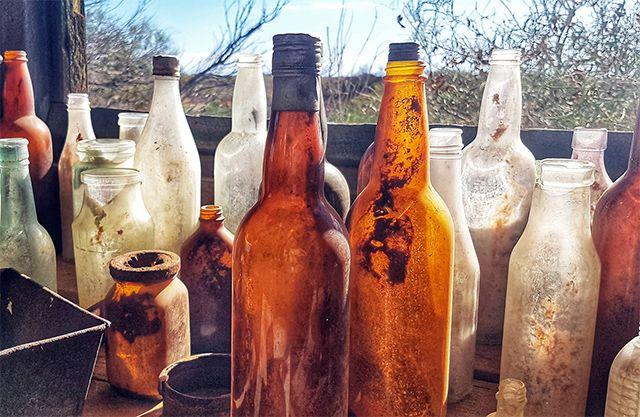 Manualidades en botellas de vidrio reutilizables