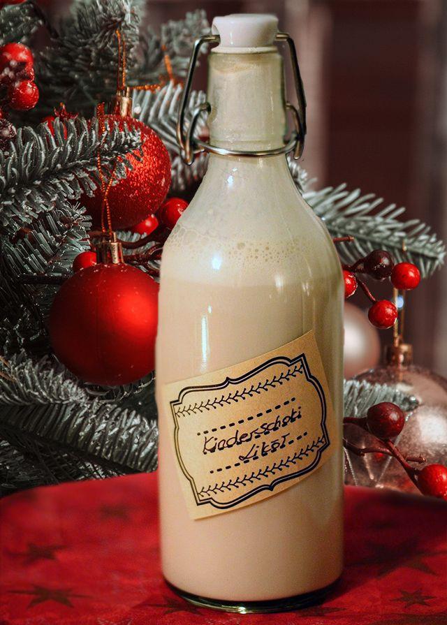Ponche navidad en botella de vidrio