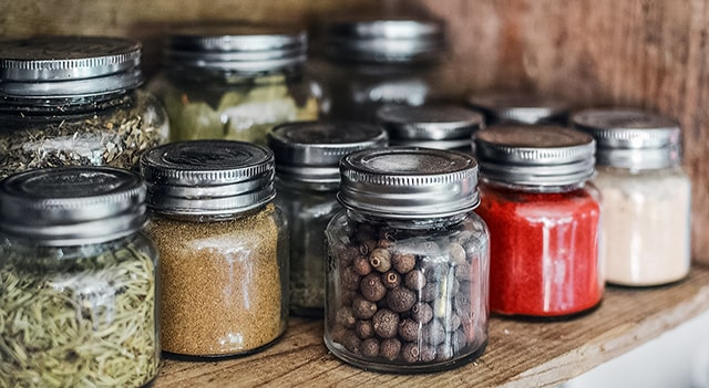 frascos de vidrio para una vida sostenible