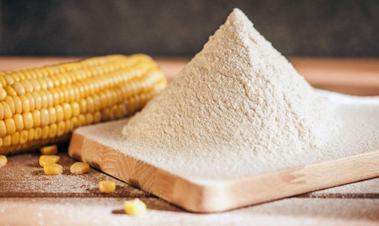 Harina de maíz en polvo