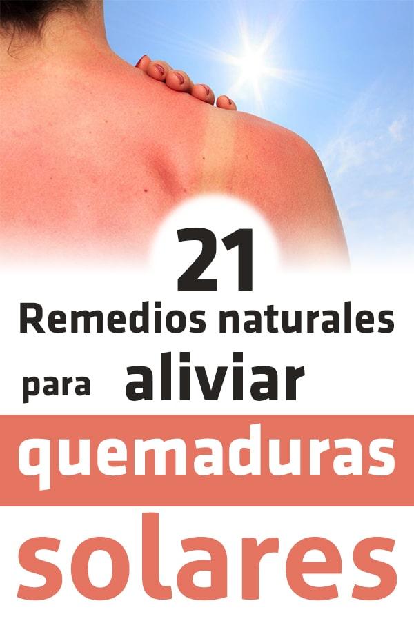 Remedios para aliviar quemaduras del sol naturalmente