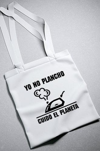 bolsa 100% algodón yo no plancho cuido el planeta
