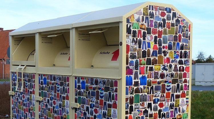 container para reciclar ropa