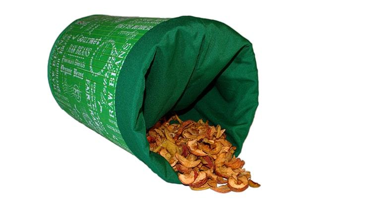 manzanas en el compostaje