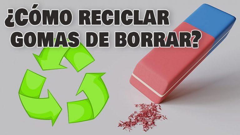 Cómo reutilizar o reciclar gomas de borrar