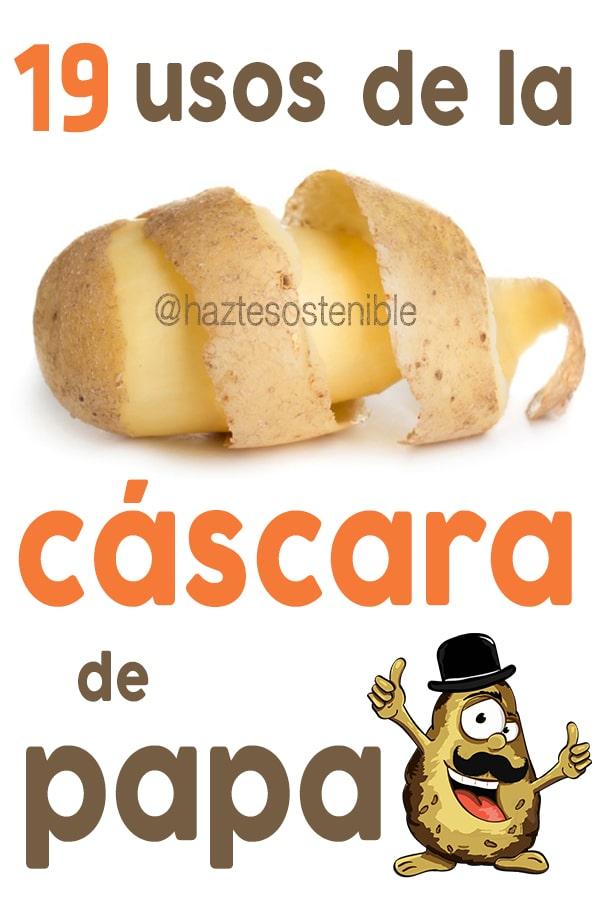 usos de la cáscara de papa o patata