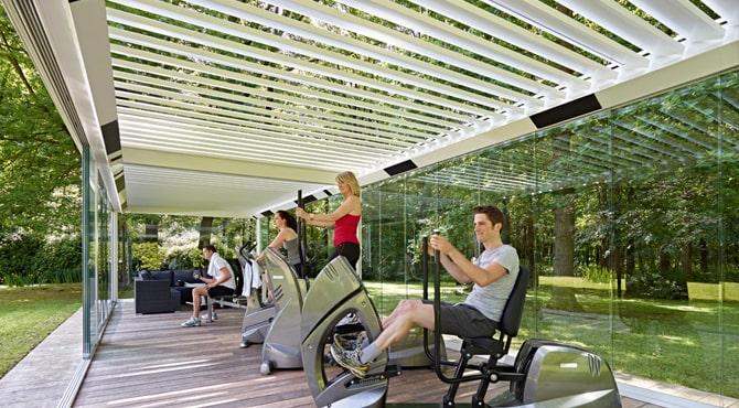 gimnasio sostenible al aire libre