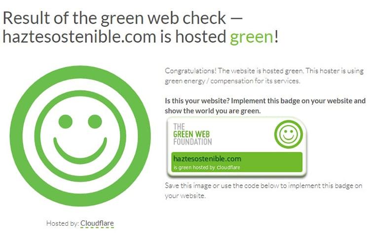 Resultados hosting verde haztesostenible