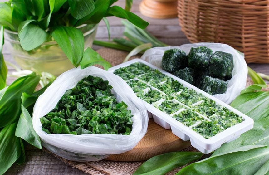 Congelar hierbas aromáticas